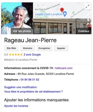 fiche google my business